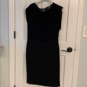 Burberry black dress with lace back